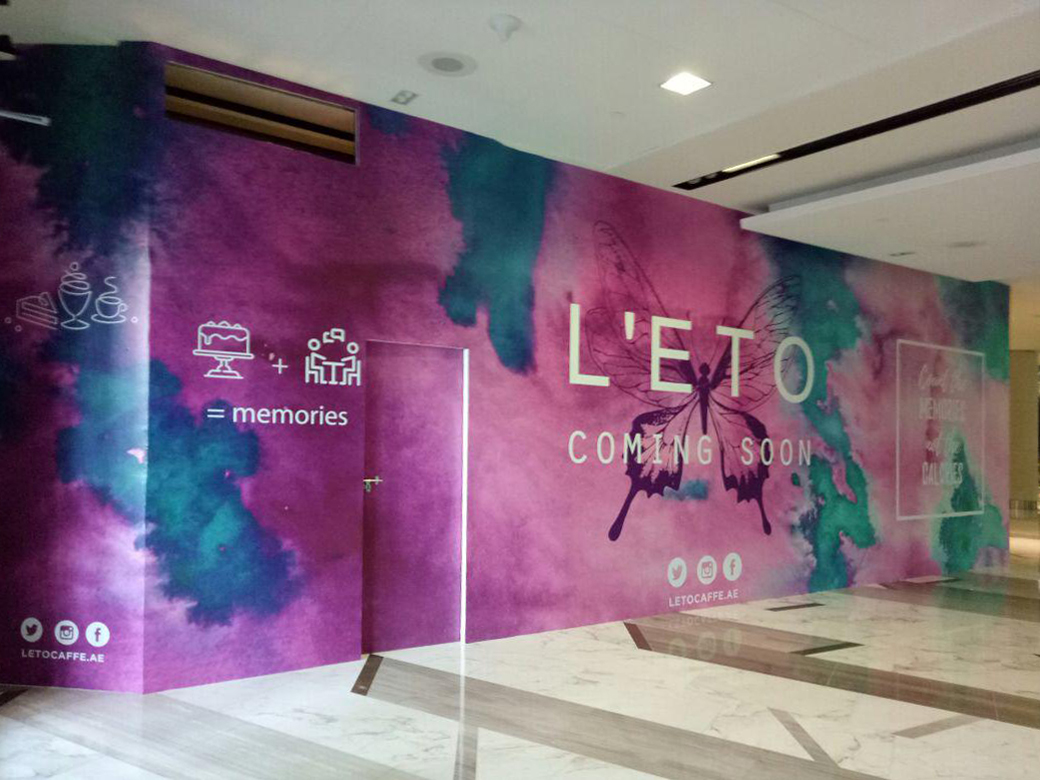 Hoarding Installataiion for Leto Cafe in Abu Dhabi